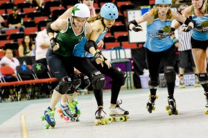 Rat City's Sintripetal Force sneaks by Minnesota blockers earlier this season. Photo by David Jaewon Oh